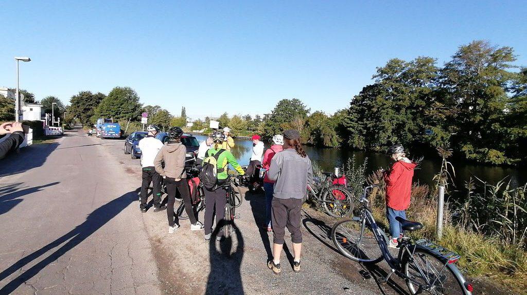 """""""Berlin hat 240 km Wasserwege, vom Teltowkanal aus wären direkte Fährverbindungen zu vielen wichtigen Zielen in Berlin möglich!"""" Andreas Paul, Sprecher STG TK, auf der Sommerradtour Stiftungsprofessuren"""
