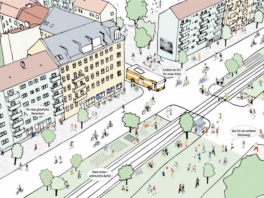 Grüne Straßen in Berlin
